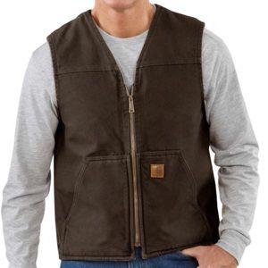 Carhartt | Brown Sherpa Lined Vest